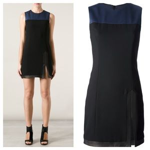 Rag & Bone sleeveless Leather Trim Dress