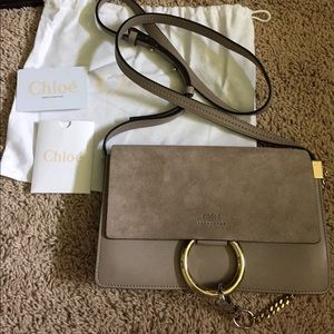 JUST REDUCED! BNWT Chloe Faye bag in Motty Grey
