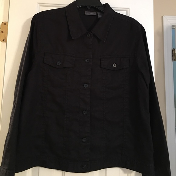 low priced enjoy clearance price better Relativity black linen jacket