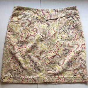 Ann Taylor LOFT patterned skirt