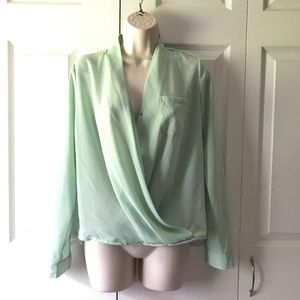 Tops - Mint Wrap Blouse