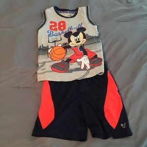 Other - Boys Mickey Mouse Basketball outfit