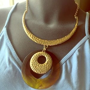 Jewelry - Gold and Tortoise Shell Necklace