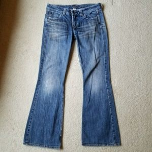 Silver Slim Leg Flare Lola Jeans