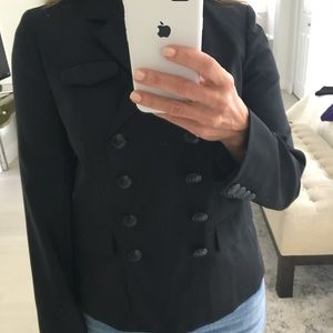 J.Crew navy tropical wool double breasted blazer.