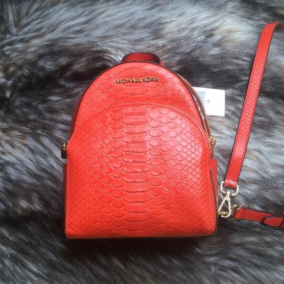 eae9fc30fd85 Michael Kors Bags | Nwt Abbey Mini Backpack | Poshmark