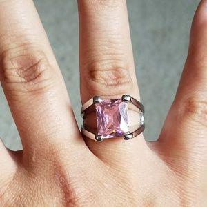 Lia Sophia Pink & Silver Chunky Ring