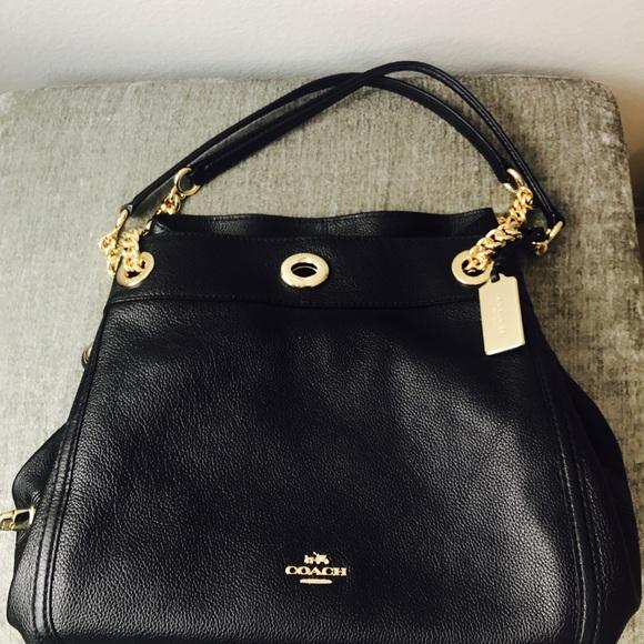 d2423612011 Coach Bags   Turnlock Edie Shoulder Bag In Pebble Leather   Poshmark