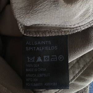 3603ee6613b All Saints Pants - AllSaints Silk Arnica Jumpsuit