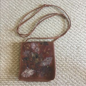 France, Cuir & Terre leather hand painted bag