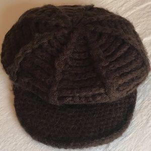 Accessories - Brown Crocheted Fashion Winter Hat
