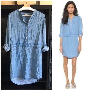Splendid Chambray Denim Long Sleeve Shirt Dress M
