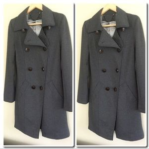 Jackets & Blazers - Double Breasted Charcoal Coat
