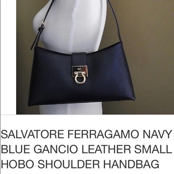 87f96c47c4 SALVATORE FERRAGAMO Brown GANCIO leather hobo bag.  M 5999efec99086af2590ca9fd
