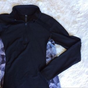 RBX black half zip long sleeve exercise jacket