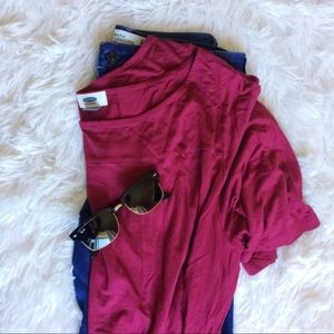 OLD NAVY maroon short sleeve light top