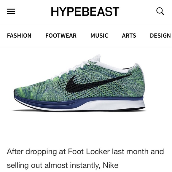 abad98b1abef NIKE Flyknit Racer Tranquil