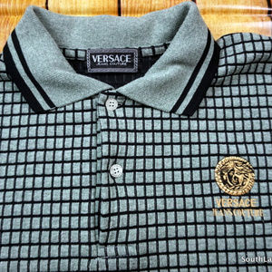 cef7709a Versace Shirts | Vintage Jeans Couture Polo Shirt Green | Poshmark