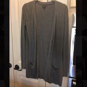 Express Long Cardigan with Crystal Buttons