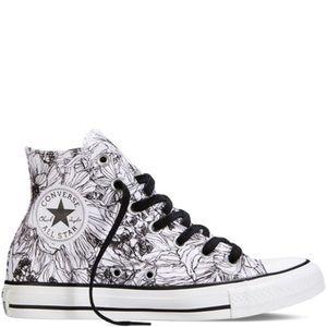 converse shoes outline