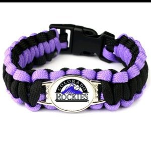 Paracord colorado rockies baseball bracelet