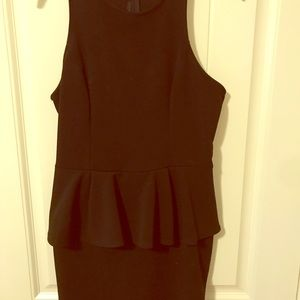 Dresses & Skirts - Black peplum dress