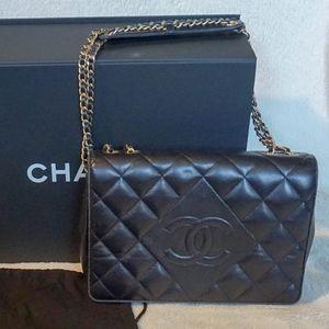 Chanel Diamond Single Flap Handbag