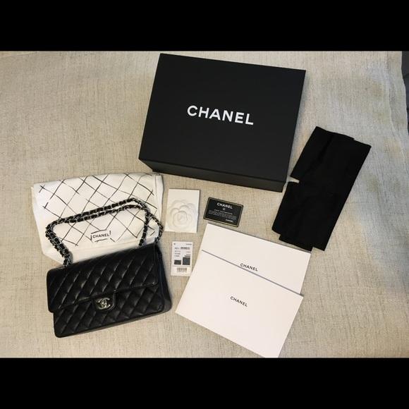 4a191f5329dc CHANEL Bags   Mediumlarge Classic Flap Black Caviar Shw   Poshmark