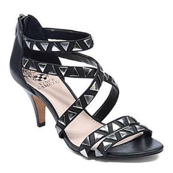 031c622e7725 SALE ❤ Vince Camuto Mikal Mid-Heel Studded Sandal.  M 5999ff7f620ff7f2820d327e