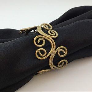 Jewelry - Swirl Antique Gold Cuff Bracelet!