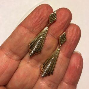 Jewelry - Elegant Art Deco Style 14K & Diamond Earrings