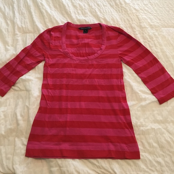 professional sale new york look for French Connection Pink and Red Striped Top