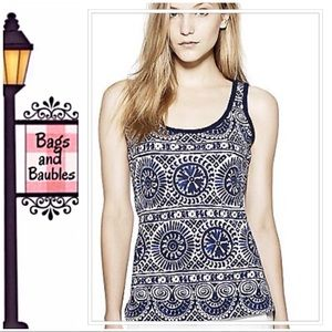 TORY BURCH Brody Tank Top, Size Small