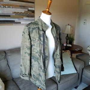 Maurices Camo Military Moto Jacket