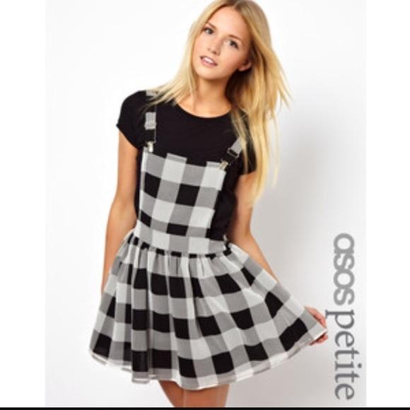 444e595399 Asos petite plaid overall dress sz 2
