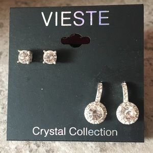 Jewelry - 🆕CRYSTAL EARRING SET. STUD EARRING AND DROP