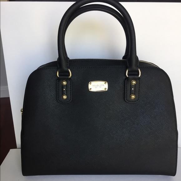 9f1ee6ff2fcd98 MICHAEL Michael Kors Bags | Michael Kors Black Saffiano Leather ...