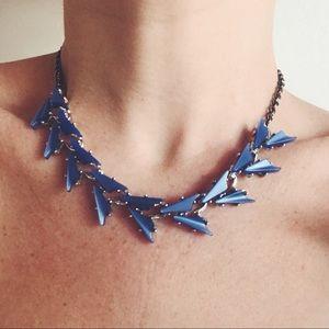 Jewelry - Cobalt Blue Vintage Geometric Necklace Choker