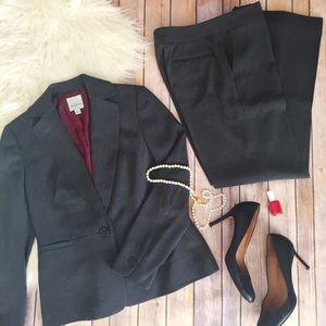 Anne Klein full charcoal grey pantsuit
