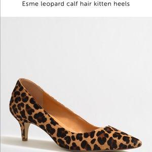 9a79bb92fac J. Crew Shoes - J.Crew Factory Esme Leopard Calf Hair Kitten Heels