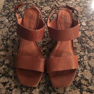 Madewell Brown Heeled Sandals