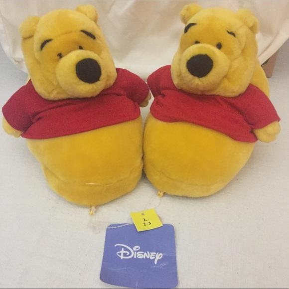 bb5952b0f07 Vintage Winnie the Pooh Disney Slippers