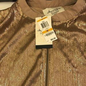 American Rag Plus Size Sequin Jacket 3X
