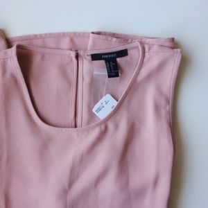 FOREVER 21 mauve sleeveless shift dress NWT