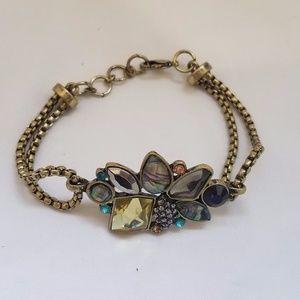 Women's Blue Gold Paua Shell Bracelet