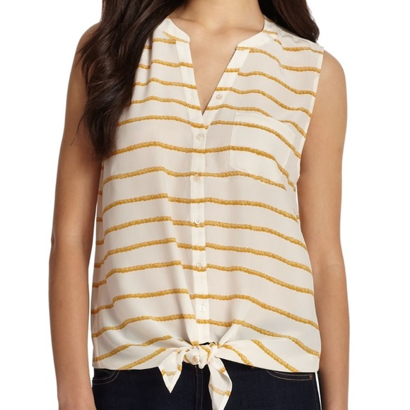8ded213b5a7c1 Joie Tops - Joie Edalette Rope Print Silk Tank Top