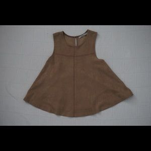 | CHLOE K | suede tank w/ maroon stitching