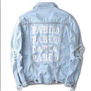 Jackets & Blazers - Distressed PABLO denim jacket size S & M