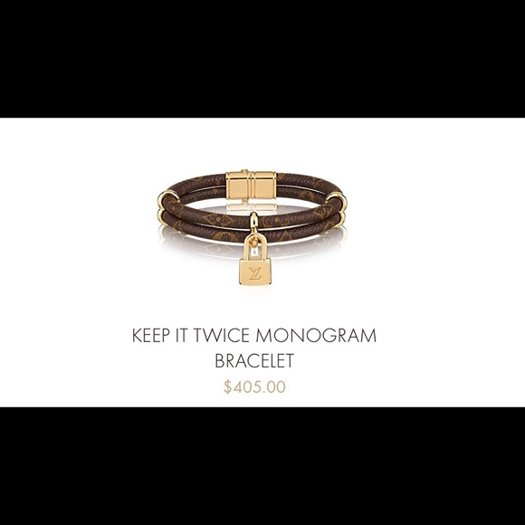 86557b258e6 Louis Vuitton women keep it twice Monog.bracelt