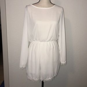Other - BEAUTIFUL BRAND NEW WHITE ROMPER WITH TAGS!